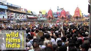 Thousands turn up for Puri Rath Yatra - Odisha