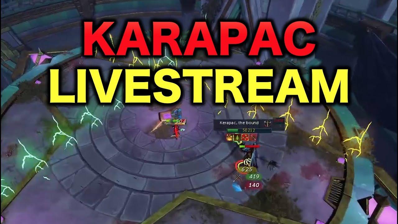 Fighting The New Elder God Wars Boss Karapac Live!