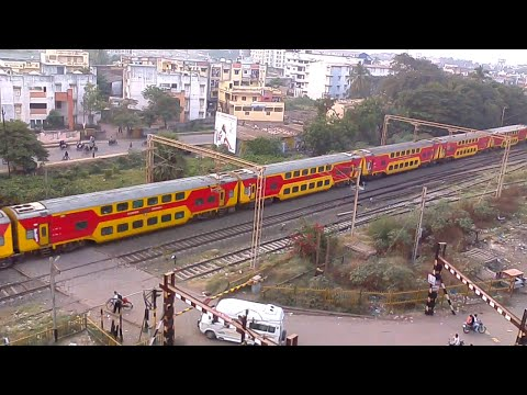 Compilation of AC Train of Indian Railway Crossing From Navsari(NVS)