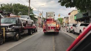 FDNY ENGINE 332 & FDNY TILLER 175 RESPONDING TO 10-26 KITCHEN FIRE ON GLENMORE AVENUE IN BROOKLYN.