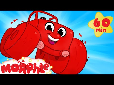 My Red Monster Truck - For Children  (+ 1 hour compilation incl Digger Firetruck Vehicles) Morphle