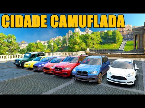 UM BOCUDO NO CIDADE CAMUFLADA - Forza Horizon 4 - GamePlay