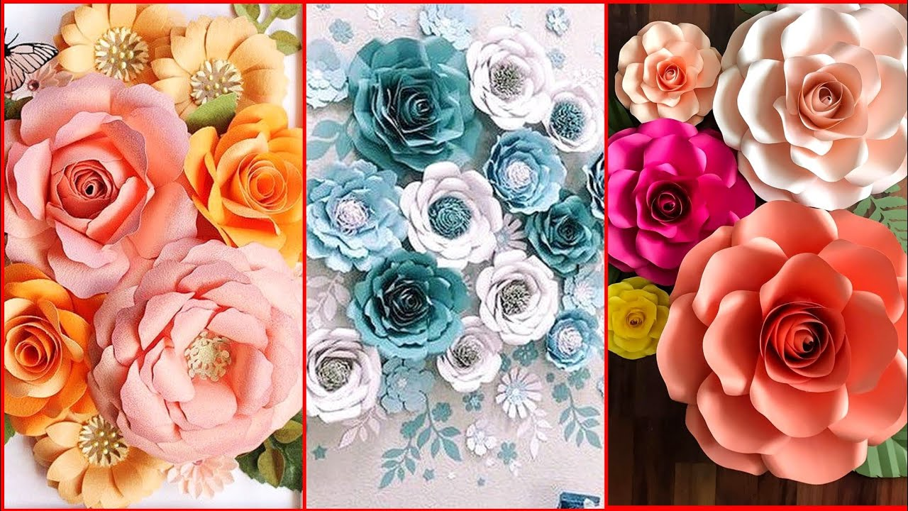 Most Beautiful Giant Paper Flower Backdrop Ideas For Decoration New Paper Flower Backdrop Ideas