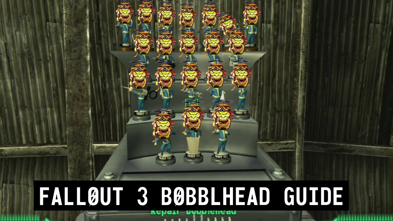 fallout 3 bobblehead location guide youtube
