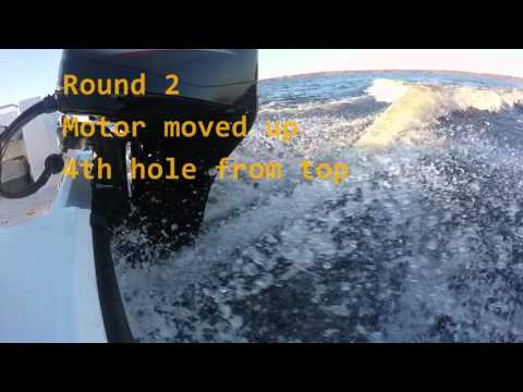 Outboard Motor depth setting