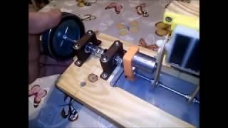 Moteur magnétique piston plat