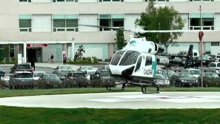CALSTAR Helicopter picking up a shooting victim in Salinas, CA , April 23, 2012