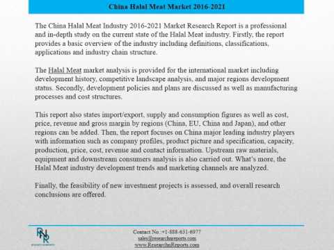 China Halal Meat Market Report 2016