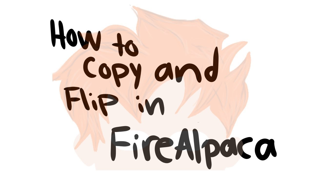 How to copy and flip in FireAlpaca