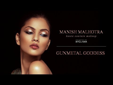 Manish Malhotra Beauty : Gunmetal Goddess with Daniel Bauer