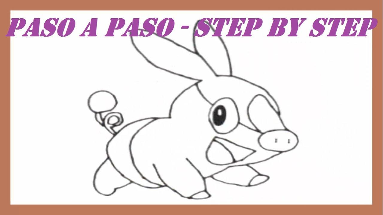 Como dibujar a Tepig Pokemon paso a paso l How to draw Pokemon