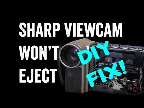 Sharp Viewcam VL-E765 Won't Eject Tape DIY FIX