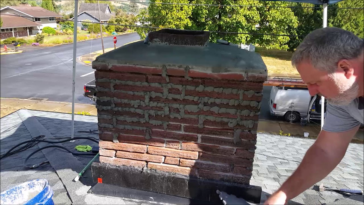 Tuckpointing A Chimney You