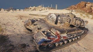 World of Tanks Caernarvon Action X 6904 DMG 2093 EXP - Airfield