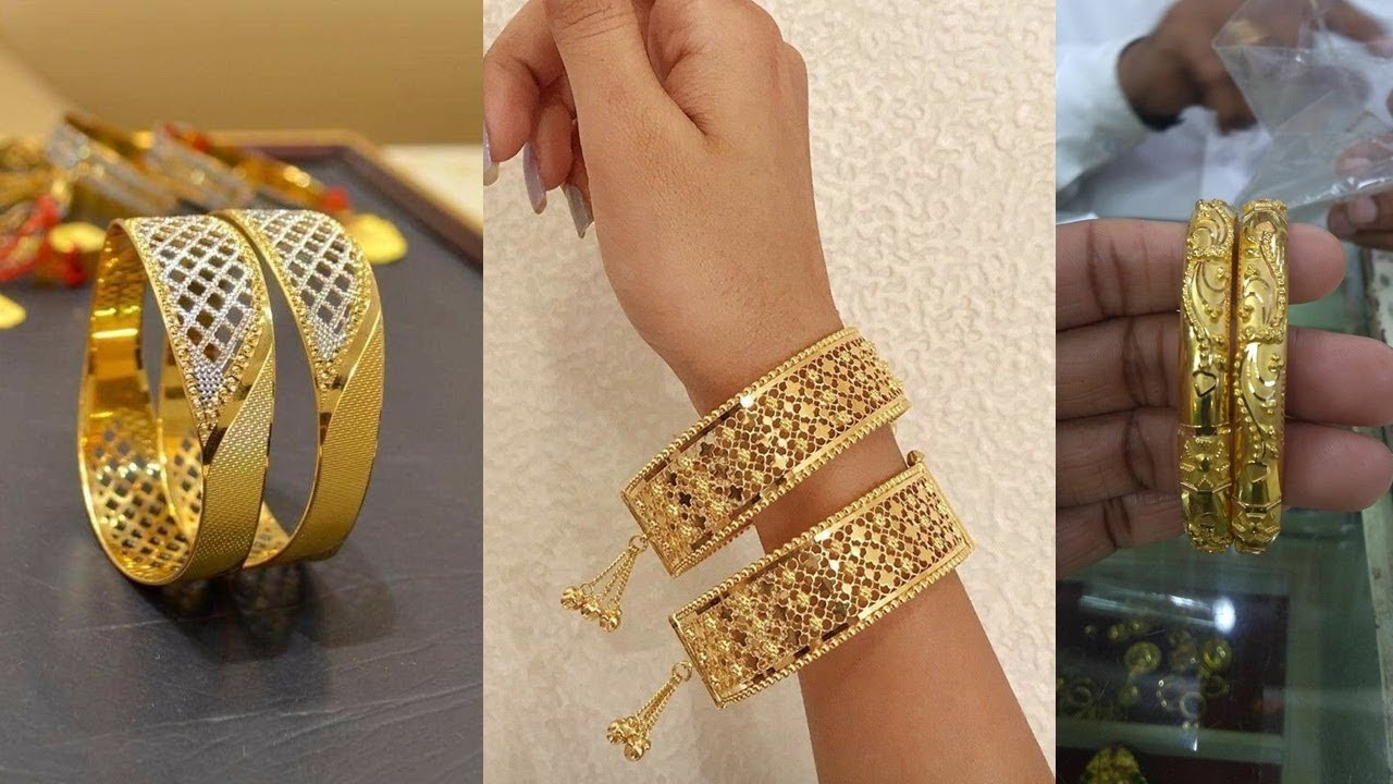 Gold Bangles Designs Latest Designs In Gold Bangles 2019 Youtube