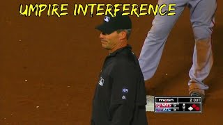 MLB Umpire Interference