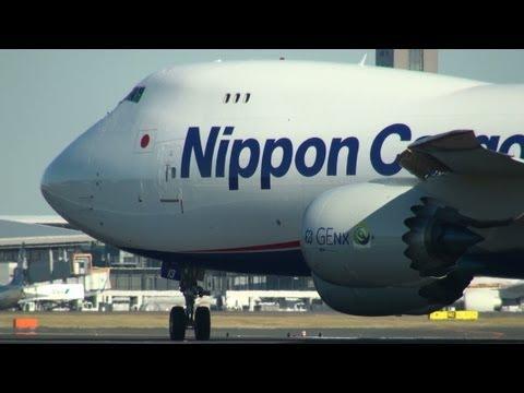 【Full HD】NCA Boeing 747-8 @Narita Airport 日本カーゴエアライン