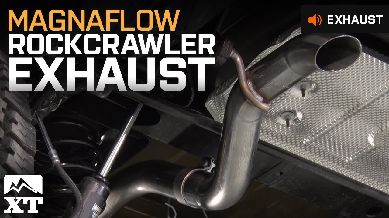 jeep wrangler magnaflow rockcrawler exhaust 2007 2017 jk exhaust sound clip install