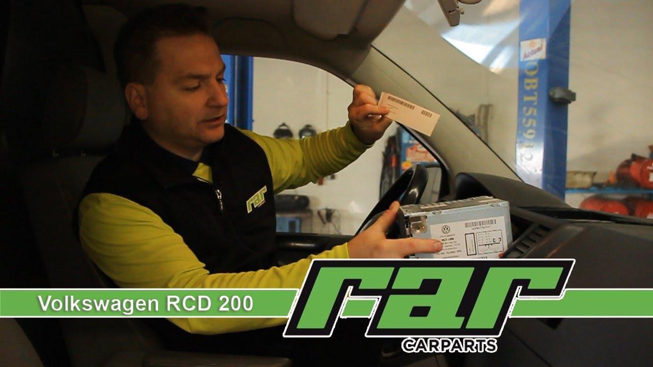 VW Autoradio RCD200 Einbau und Bedienung Deutsch RAR Carparts Der ...