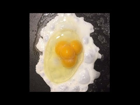 I found an egg with 4 yolk's in it.. (1 in a billion chance)