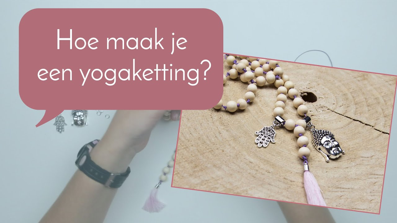7a073289cfa Sieraden maken met Kralenwinkel Online: yogaketting maken met knoopjes  ertussen