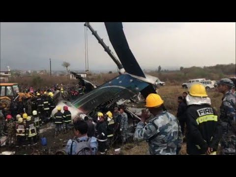Kathmandu plane crash leaves dozens dead