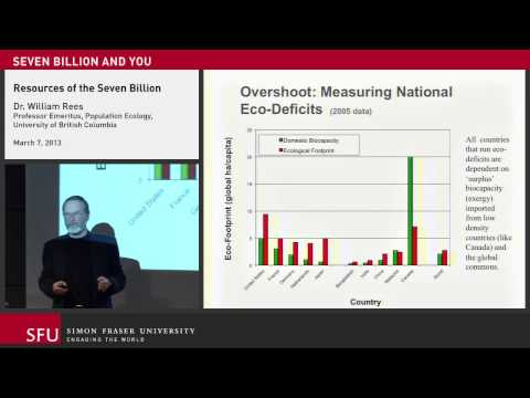 Resources, the 7 Billion, and You: Lecture at Simon Fraser University