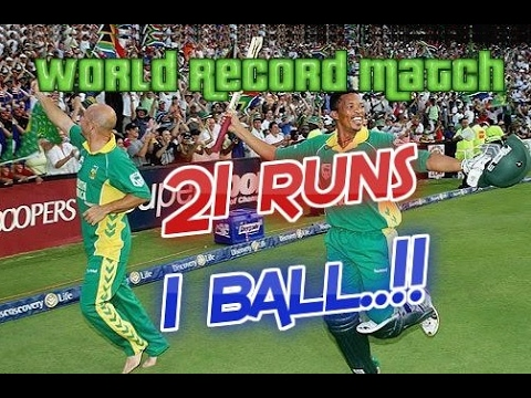 21 Runs off 1 Ball scored in a very famous ODI | South Africa vs Australia World Record Match 2006