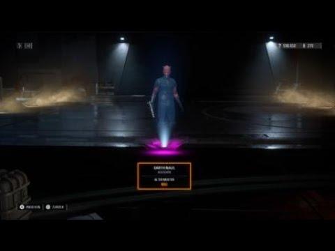 Unlocking The Old Master Skin \u0026 Kenobi! Emote | Darth Maul Star Wars Battlefront 2