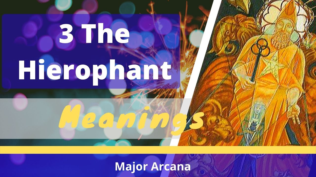 5 The Hierophant tarot card meanings - YouTube  5 The Hierophan...