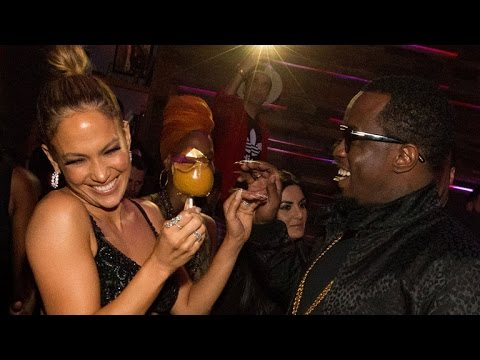 Jennifer Lopez and Diddy Have Adorable Reunion at AMAs Bash