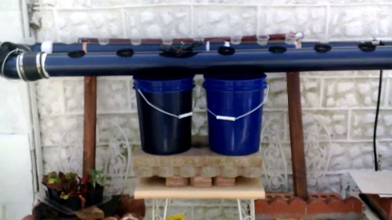 DIY Outdoor PVC NFT system Homemade