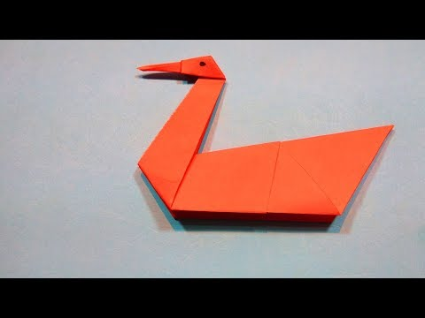 How to Make a Paper Swan - DIY Origami paper Craft Easy Tutorial