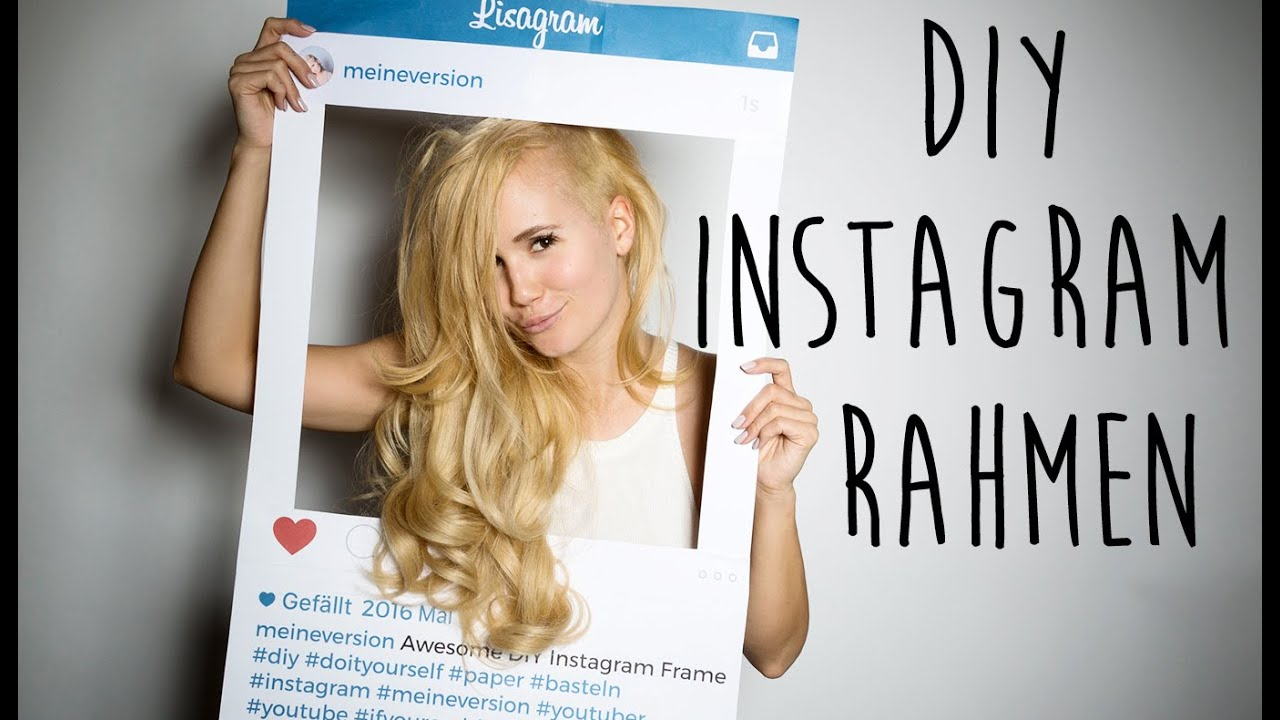 DIY Instagram Rahmen - Photo Booth Party - YouTube