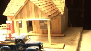 Vintage Gas Station Diorama