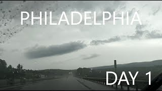 PHILADELPHIA Vlog - DAY 1 - Arrival and driving through storms