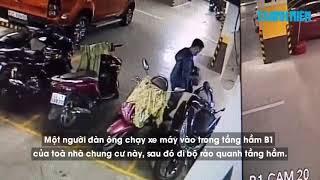 Tên trộm liều lĩnh vào tận chung cư để trộm xe PCX