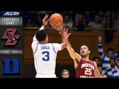 Boston College vs. Duke Condensed Game | 2018-19 ACC Basketball