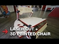 3D Printed Furniture | DIY Laser Cut Wood Chair | Woodworking