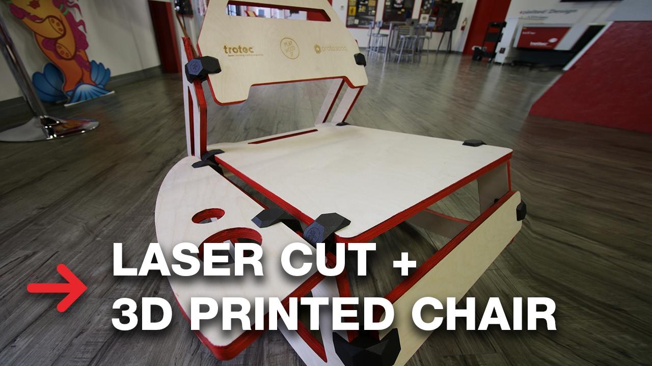 3D Printed Furniture | DIY Laser Cut Wood Chair | Woodworking