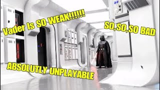 VADER IS DEFINATLY HORRIBLE - Star Wars Battlefront ll