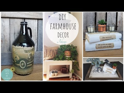 FARMHOUSE DIY | HOME DECORATING IDEAS | RUSTIC BOOKS | BUICK | VINTAGE | WHITEWASH | DOLLAR TREE