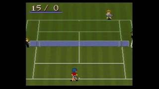 Super Family Tennis gameplay, SFC Japan