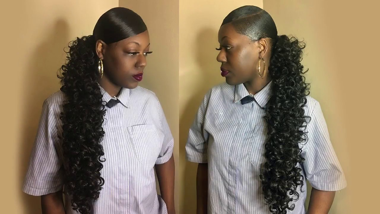 Deep Side Part Extended Ponytail Pinterest Inspired Prom Hair