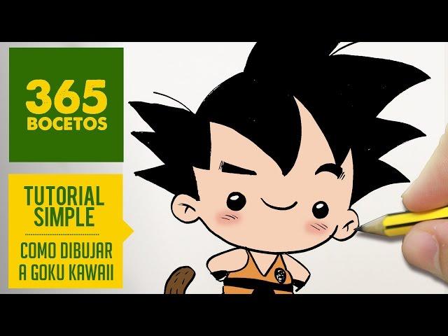 Como Dibujar A Goku Kawaii Paso A Paso Dibujos Kawaii Faciles