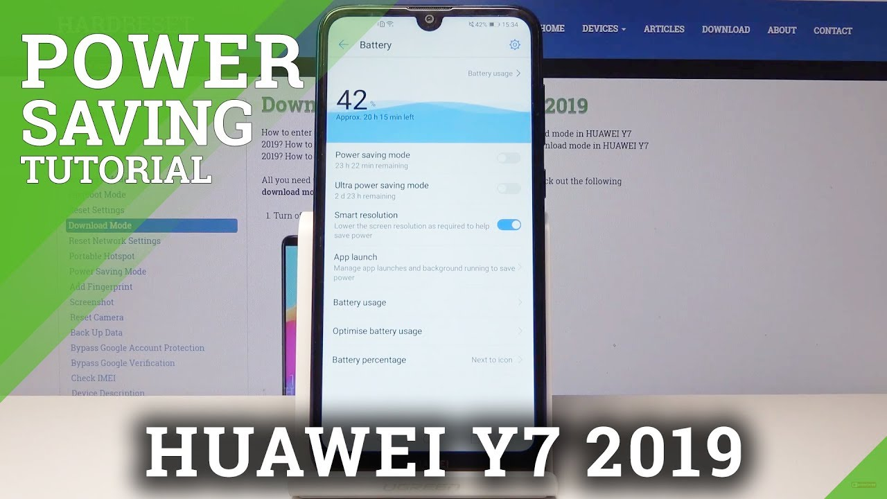 Power Saving Mode in HUAWEI Y7 - Extend Battery / Save Power