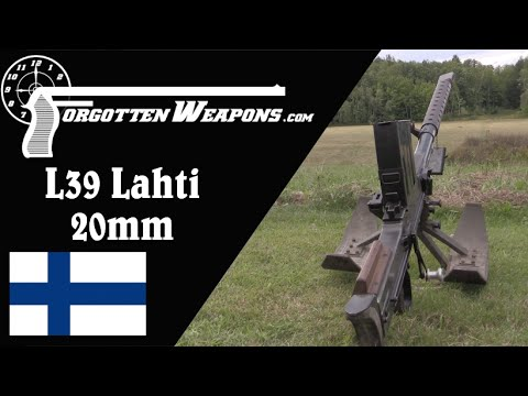 20mm Lahti L39 Antitank Rifle (Shooting & History)