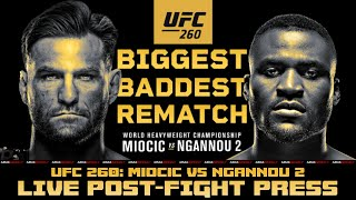 UFC 260 Post-Fight Press Conference: Miocic vs Ngannou