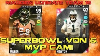 Superbowl MVP Von Miller & MVP Cam Newton DESTROYING Opponents! Madden Ultimate Team 16