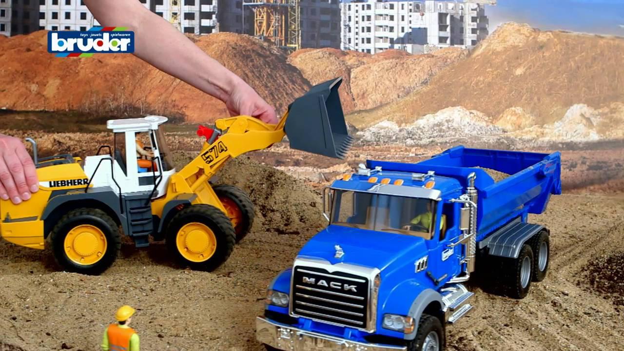 Bruder Toys Mack Granite Halfpipe Dump Truck 2823 Youtube